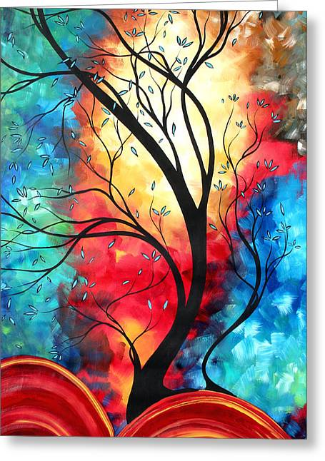 Bold Style Greeting Cards - New Beginnings Original Art by MADART Greeting Card by Megan Duncanson