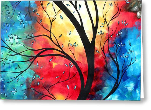 New Beginnings Original Art by MADART Greeting Card by Megan Duncanson