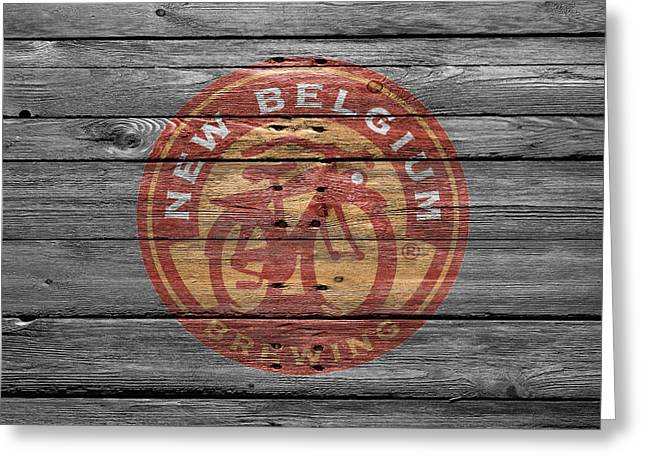 New Signs Greeting Cards - New Belgium Brewery Greeting Card by Joe Hamilton