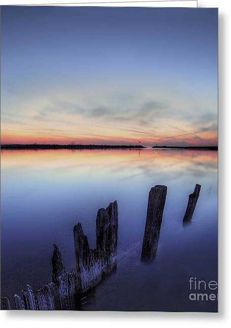 Sunset Framed Prints Greeting Cards - New Buffalo Beach Greeting Card by Twenty Two North Photography