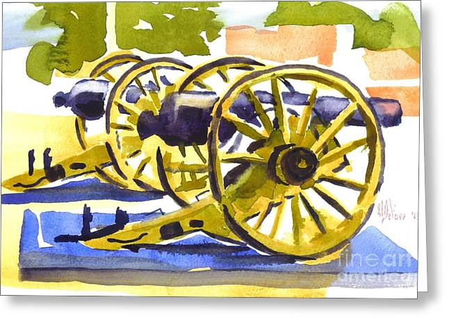 War Memorial Paintings Greeting Cards - New Cannon Greeting Card by Kip DeVore