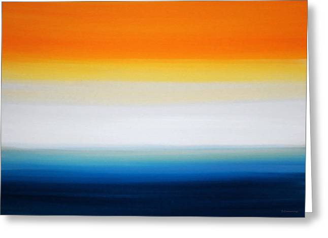 Art Buyers Greeting Cards - New Dawn - Abstract Art By Sharon Cummings Greeting Card by Sharon Cummings