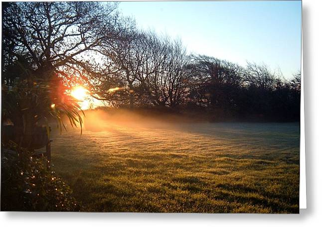 Dappled Light Greeting Cards - New Dawn Fades Greeting Card by Richard Brookes