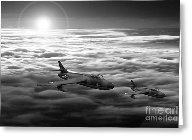 Airpower Greeting Cards - New Dawn Greeting Card by J Biggadike