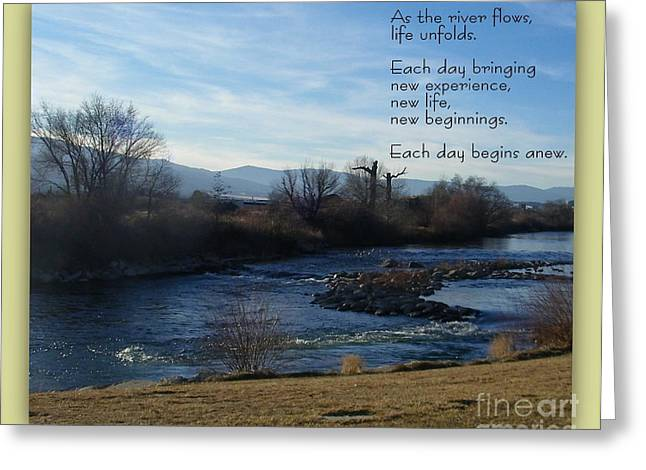 New Day Greeting Card by Bobbee Rickard