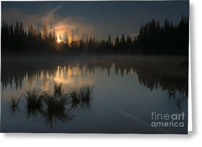 Mt Greeting Cards - New Day Dawning Greeting Card by Mike Dawson