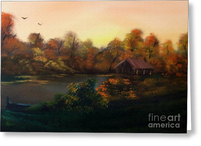Layer Greeting Cards - New day in Autumn Sold Greeting Card by Cynthia Adams