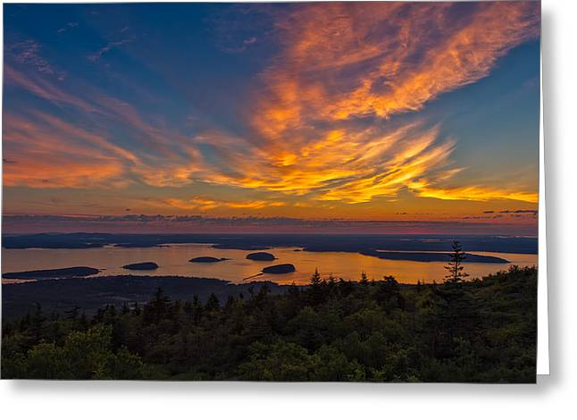 Maine Landscape Greeting Cards - New Day Greeting Card by John Bailey