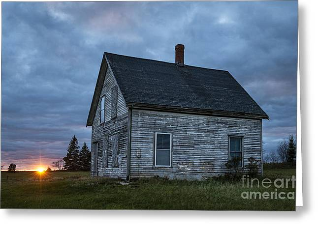 Old Maine Houses Greeting Cards - New Day Old House Greeting Card by John Greim