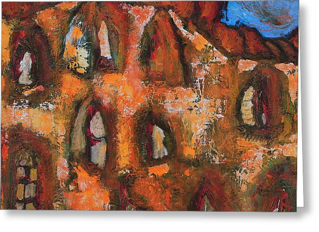 Prague Paintings Greeting Cards - New Day Greeting Card by Oscar Penalber