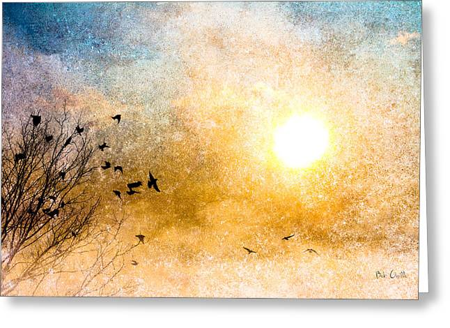 Sunset Abstract Photographs Greeting Cards - New Day Yesterday Greeting Card by Bob Orsillo