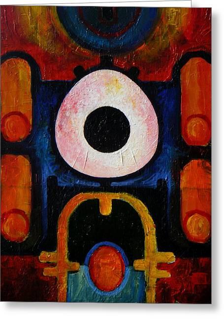 Harold A. Bascom Paintings Greeting Cards - New earth Incubation Six Greeting Card by Harold Bascom