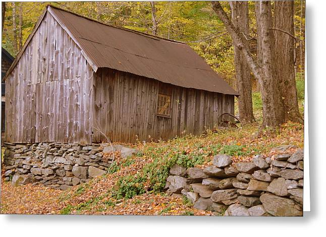 New Greeting Cards - New England barn Greeting Card by Linda Covino