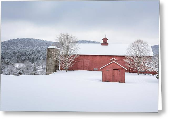 New England Barns Greeting Card by Bill  Wakeley