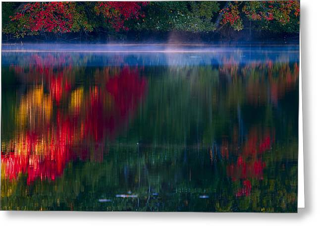 Southern New England Greeting Cards - New England Fall Abstract Greeting Card by Dapixara photos