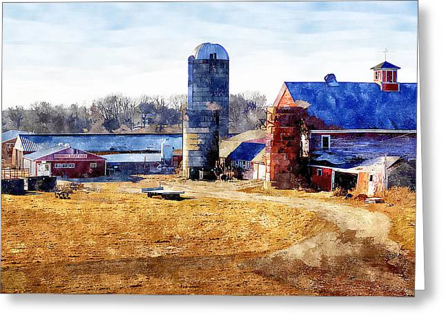 Dairy Barn Greeting Cards - New England Farm 2 Greeting Card by Rick Mosher