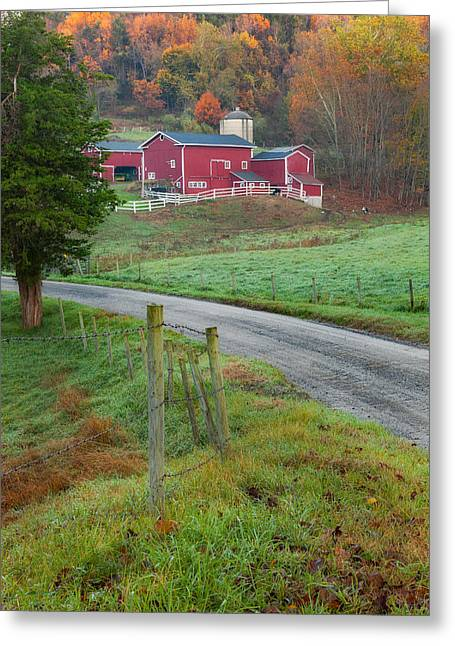 Americana Greeting Cards - New England Farm Greeting Card by Bill  Wakeley