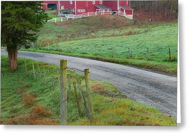 New England Farm Greeting Card by Bill  Wakeley