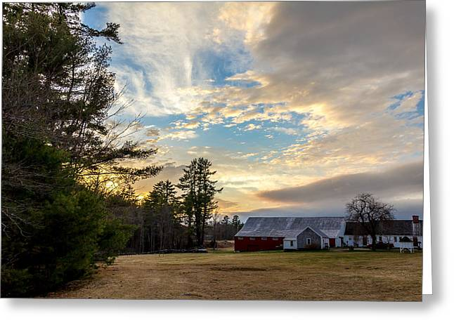 Old Maine Barns Greeting Cards - New England Farm Greeting Card by James Weyand