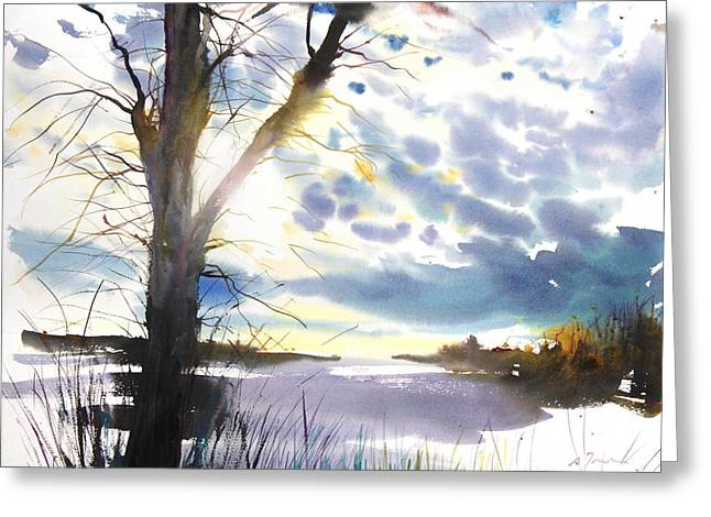 Millbury Greeting Cards - New England Landscape No. 218 Greeting Card by Sumiyo Toribe