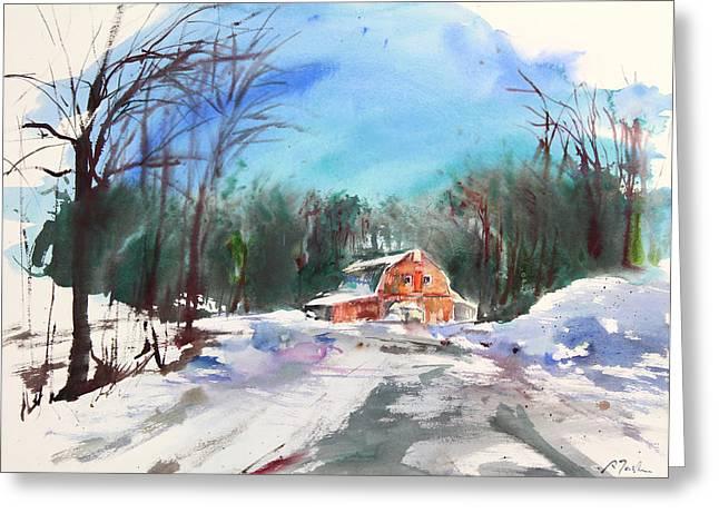 Storibeart Greeting Cards - New England Landscape No.217 Greeting Card by Sumiyo Toribe