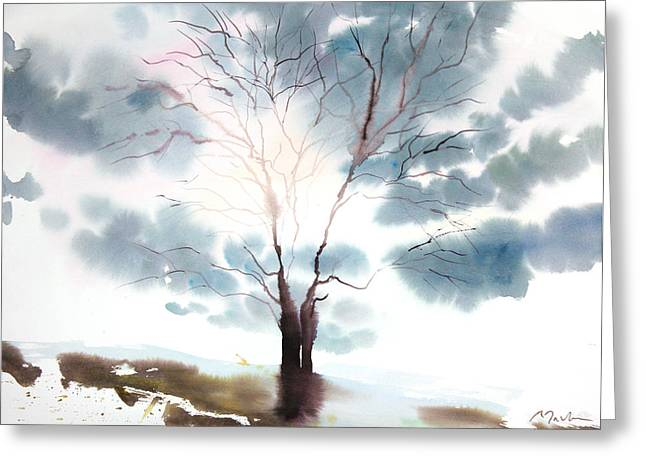 Sumiyo Toribe Greeting Cards - New England Landscape No.220 Greeting Card by Sumiyo Toribe