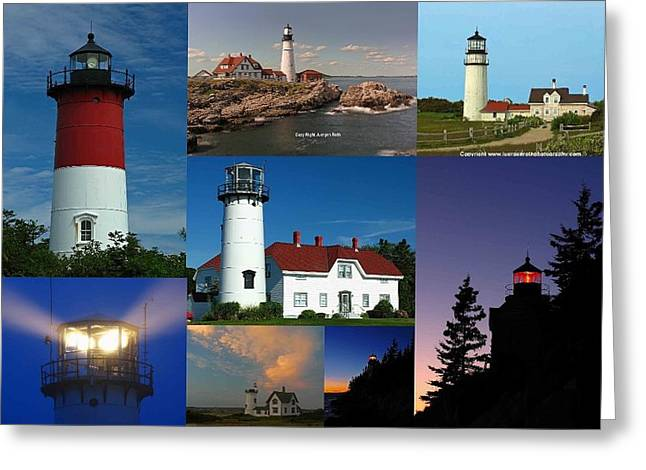 Chatham Greeting Cards - New England Lighthouse Collection Greeting Card by Juergen Roth