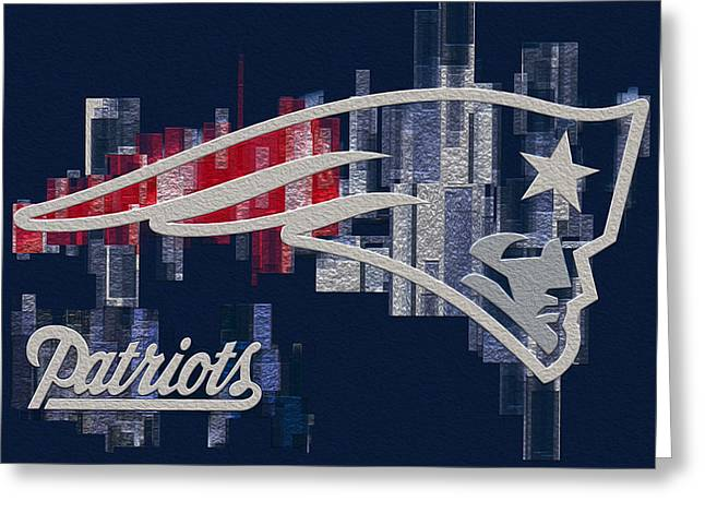 Playoff Greeting Cards - New England Partiots Greeting Card by Jack Zulli