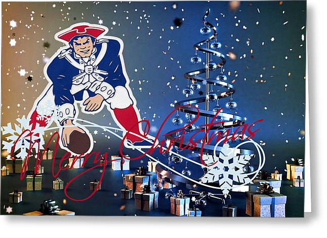 Patriot Greeting Cards Greeting Cards - New England Patriot Greeting Card by Joe Hamilton