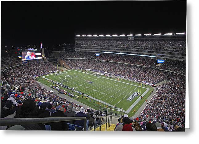 Foxboro Greeting Cards - New England Patriots and Tom Brady Greeting Card by Juergen Roth