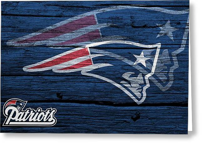 Patriot League Greeting Cards - New England Patriots Barn Door Greeting Card by Dan Sproul