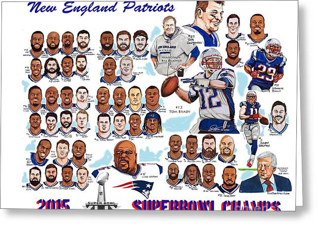 New England Patriots Superbowl Champions Greeting Card by Dave Olsen