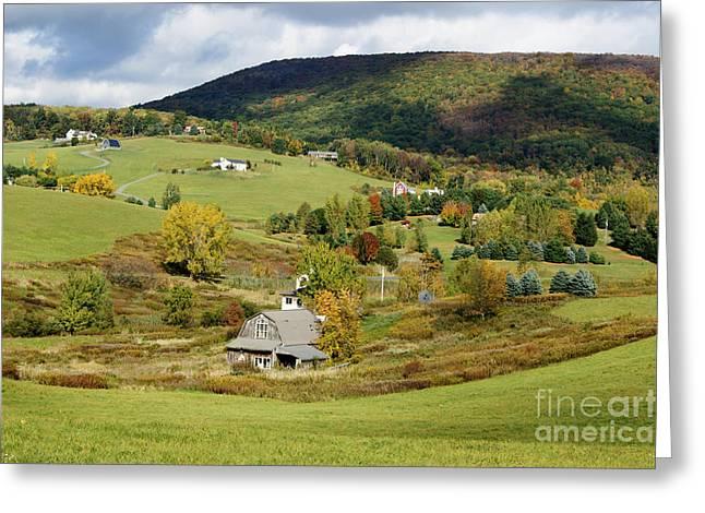 David Birchall Greeting Cards - New England Rural Idyllic Greeting Card by David Birchall