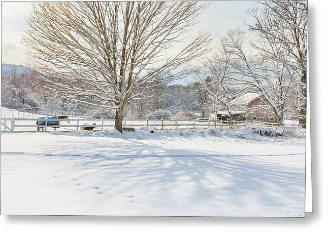 New England Winter Greeting Card by Bill  Wakeley