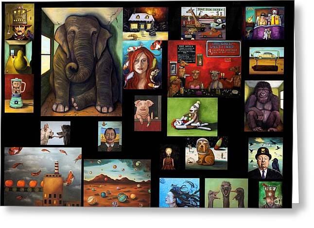 Kinkade Greeting Cards - New Flyer Greeting Card by Leah Saulnier The Painting Maniac