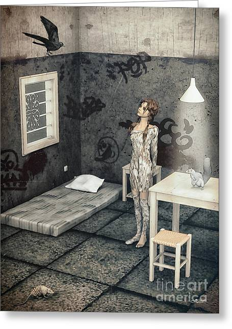Table Lamp Greeting Cards - New Friend Greeting Card by Jutta Maria Pusl
