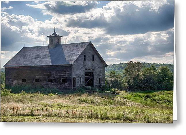 Maine Farmhouse Greeting Cards - New Gloucester 7P00331 Greeting Card by Guy Whiteley