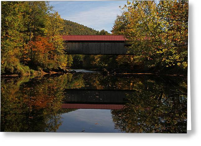Tin Roof Greeting Cards - New Hampshire Coombs Covered Bridge Greeting Card by Juergen Roth