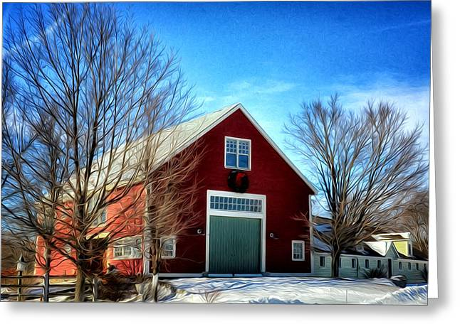 New Hampshire Farm Greeting Card by Tricia Marchlik