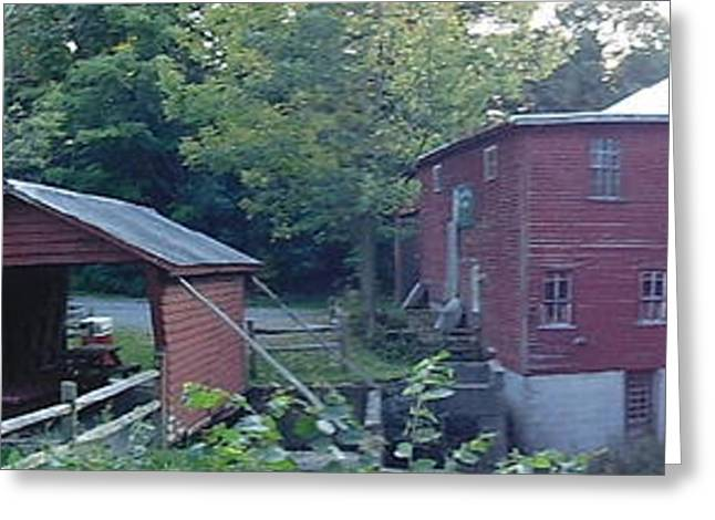 Historic Country Store Greeting Cards - New Hope Mills II Greeting Card by Charlotte Gray