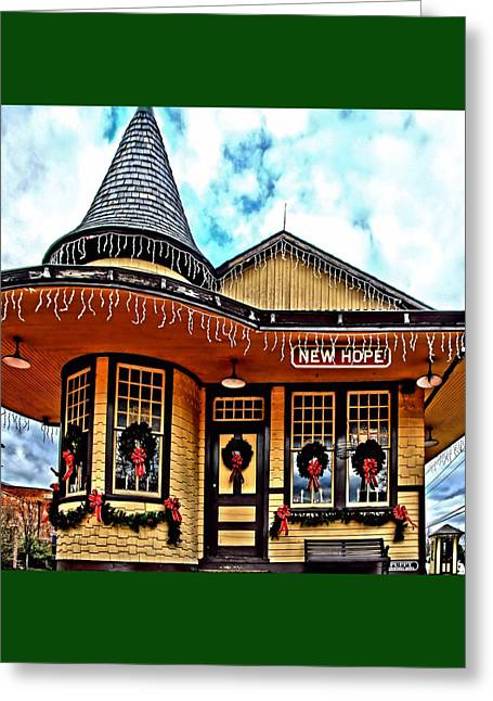 Djphoto Greeting Cards - New Hope Station Greeting Card by DJ Florek