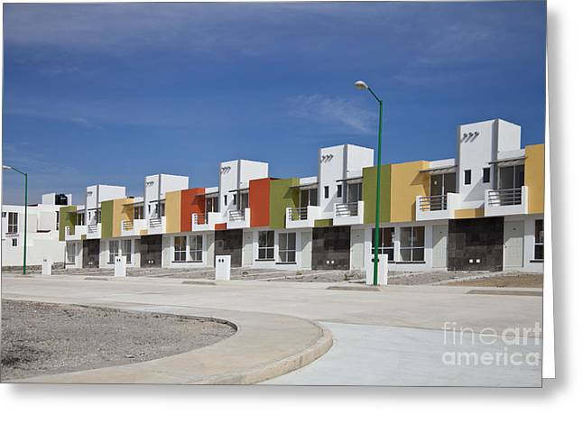 World Destination Photographs Greeting Cards - New Housing, Mexico Greeting Card by Ellen Thane