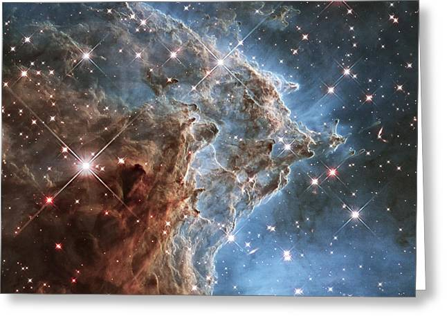 Office Space Greeting Cards - New Hubble image of NGC 2174 Greeting Card by Adam Romanowicz