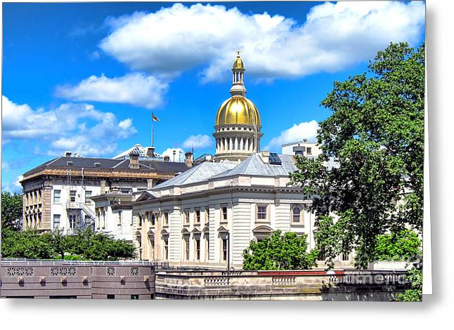 Dome Greeting Cards - New Jersey Capitol Greeting Card by Olivier Le Queinec