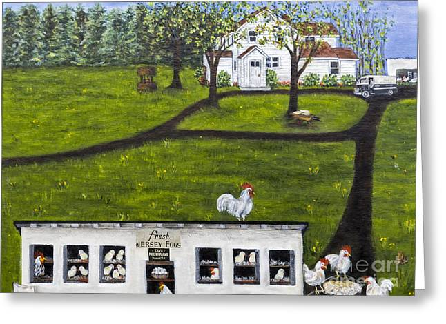 Jersey Fresh Greeting Cards - New Jersey Farm Fresh Eggs by Alison Tave Greeting Card by Sheldon Kralstein