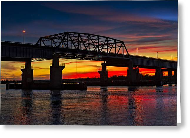 N.j. Greeting Cards - New Jersey Meadowlands Sunset Greeting Card by Susan Candelario