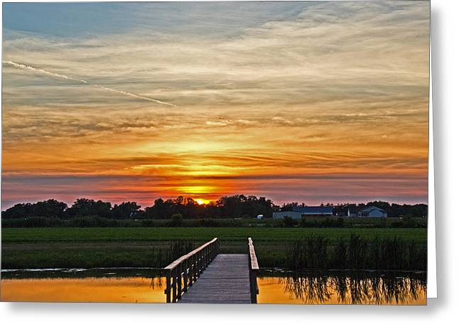 Sunset Greeting Cards Greeting Cards - New Jersey Summer Sunset Greeting Card by Tom Gari Gallery-Three-Photography
