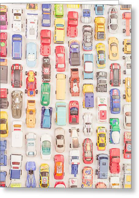 Collection Greeting Cards - New Jersey Traffic Jam Greeting Card by Edward Fielding