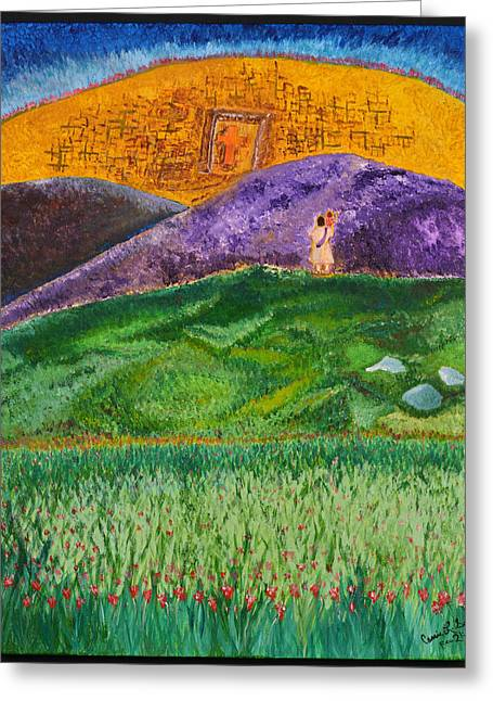 Art-by-cassie Sears Greeting Cards - New Jerusalem Greeting Card by Cassie Sears