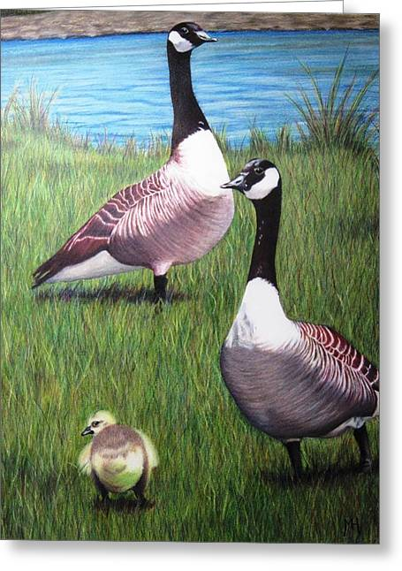 New Kid On The Block Greeting Card by Michelle Harrington